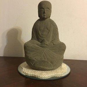 Vintage Stone Meditation Figure